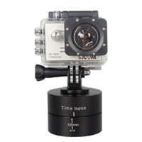 camaras rotativas al por mayor-360 grados de rotación cabeza del trípode base 120 min estabilizador de lapso de tiempo para Gopro 6 5 4 3+ 3 cámaras Sjcam Xiaoyi Sport