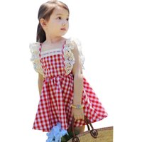 Wholesale girls harnesses resale online - 2019 spring and summer children s clothing baby female Tong Gezi lace vest harness Binbi Bear girl princess