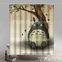 personagens profissionais venda por atacado-Caráter original profissional de DIY personalizado personalizado meu vizinho Totoro cortinas de chuveiro