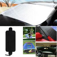 Wholesale auto sun car resale online - LARGE Car Auto Windshield Protector Visor Cover Sun Shade Anti SnowFrost IceDust