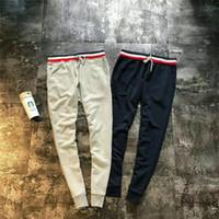 pantalones de chándal al por mayor-fahion usa la Mejor Versión Tom para hombre joggers a rayas Calidad Pantalones deportivos Calzado casual Pantalones de chándal Pantalon Homme