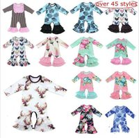 Wholesale romper bodysuit jumper for sale – dress Kids Designer Clothes Baby Romper Onesies Ins Leaf Animal Jumpsuits Long Sleeve Bodysuit Floral Romper Jumpers Dolphins Flower Pajamas LT263