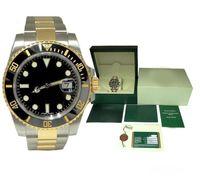 caja de reloj de calidad para hombre al por mayor-De lujo para hombre relojes caja de cerámica bisel 116610 hombres correa de acero inoxidable reloj mecánico automático 2813 reloj de pulsera de zafiro