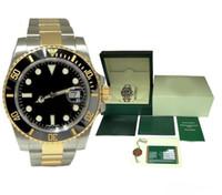 miroir de montre led tactile achat en gros de-Luxe Hommes Montres BOX Qualité Lunette En Céramique 116610 Hommes En Acier Inoxydable Bracelet Automatique Montre Mécanique 2813 Mouvement Montre-Bracelet Saphir