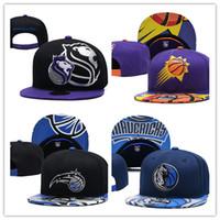 mavi mor renk toptan satış-Erkek Sihirli PhoenixSuns Kings Mavericks Yeni Siyah mor mavi Top Kapaklar Resmi Takım Renk 59FIFTY Donatılmış Şapka