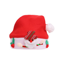 Wholesale baby hat party for sale - Group buy Kids Glow Christmas Beanie Hat Cartoon Plush Pom Pom Christmas Santa Cap Baby Snowman Deer Xmas Party Hats TTA2040