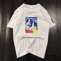 ropa de nieve al por mayor-Tres modelos de camiseta de verano con la letra Snow Mountain Hombres Tops Ropa Cuello redondo Casual Mujer Camisa de manga corta M-XXL