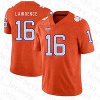 Wholesale jersey american resale online - Clemson Tigers American football Jersey Trevor Lawrence Travis Etienne Jr wears NCAA Jerseys Tom