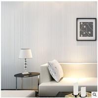 трехмерные обои оптовых-Three-dimensional self-adhesive wallpaper non-woven wallpaper living room full of modern simple pure pigmented stripes