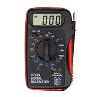 spannung lcd anzeigen dc großhandel-Digitales tragbares Strom-Ohmmeter / DC-Spannung Prtical Mini Hand-ultradünnes LCD-Anzeigetaschen-Prüfgerät-Multimeter