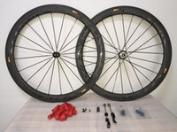 Wholesale powerway r36 hubs for sale - Group buy T1100 Cosmic Powerway R36 hubs road bike Full Carbon mm profile clincher wheelset bottle cages as gift