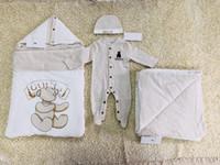 modell kleidung für jungen großhandel-Neues Modell Baby-Spielanzug Designer Kinder Stripes Revers Langarm Jumpsuits Säuglingsmädchen-Brief-Stickerei-Baumwollspielanzug Boy Kleidung