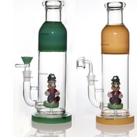 Wholesale colorful hookah smoke for sale - Group buy Funny bong Thick Cartoon Characters perc glass bongs water pipe colorful dab rig smoking pipes oil rigs wax hookahs