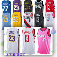 buy online a8eee 910f5 NCAA Arizona State College 13 Harden 23 James 3 Wade 0 Westbrook 33 Kobe  High School Basketball-Trikots
