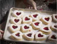 diy dekorierte kekse groihandel-6pcs / set Herzform Ausstechform Kuchen, der Werkzeuge Fondant Sugar Süßigkeit Kuchen-Biskuit-Form DIY Backen-Werkzeuge