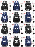 сумка для ноутбука оптовых-DJ marshmello school bag usb ноутбук рюкзак для девочек мальчиков подростков детский прохладный bookbag дети дизайнер рюкзак сумки 2213