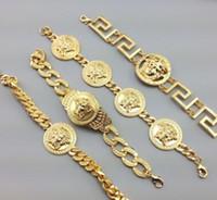 ingrosso braccialetti unisex personalizzati-il braccialetto dei monili dell'anca di Hip Hop dell'acciaio inossidabile 316L Miami dei braccialetti della catena del DJ della testa delle donne personalizza il commercio all'ingrosso