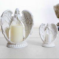 ingrosso elettronica di nozze-Candeliere d'epoca Candela d'angelo Candela elettronica Candela poliresina Retro Home Decor Ornament Room Wedding Decoration