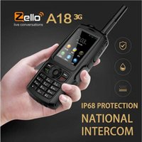 ıp68 cep telefonu toptan satış-A18 IP68 Su Geçirmez GPS WCDMA GSM Smartphone Çift Kart Zello Cep Telefonu UHF 400-480 PTT Walkie Talkie Telefon 3800 mAh Dokunmatik Ekran