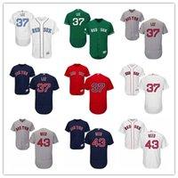 roseau rouge achat en gros de-Jeunes Femmes Femmes Boston # 43 Addison Reed 37 Maillots de Baseball Personnalisés Bill Lee Red Sox