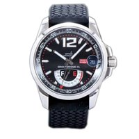 Wholesale luxury watches miglia online - New Best Edition Miglia GT XL Steel Case Real Power Reserve Black Dial ETA A2824 Automatic Mens Watch Black Rubber Strap FK01