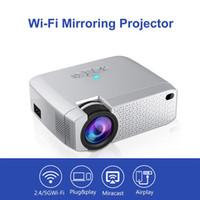 mini hd portátil al por mayor-Mini proyector Portátil Mini HD Proyector Led Conexión inalámbrica WiFi Proyectores Proyector 3D 2019 nueva llegada