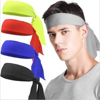 Wholesale sports head bandanas resale online - Outdoor Sports Fitness Bandanas Headbands Tennis Turban Headband Hairband Sweat Absorbent Stretch Hair Band Head Wrap IIA234