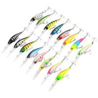Wholesale Mixed Models Plastic Hard Baits Lures Fishing Hooks Hook Artificial Bait Pesca Fishing Tackle Accessories