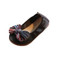 bebek ayakkabı süsleri toptan satış-Bebek Kız Dans Ayakkabıları Yay-Düğüm Süs Ayakkabıları Kaymaz Rahat Bebek Bebek Kız Erkek Spor botines nina