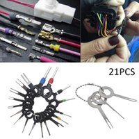 Wholesale terminal wires resale online - 18pcs Auto Car Plug Circuit Board Wire Harness Terminal Extraction Disassembled Crimp Pin Back Needle Remove Tool Kit