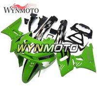 zzr carenados verde al por mayor-ABS Plásticos carenados completos para Kawasaki ZZR400 1993 - 1997 NINJA ZZR-400 93 94 95 96 97 Inyección Moto Carrocería Verde Negro Cubiertas NUEVO