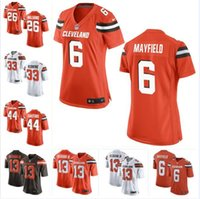 Wholesale new jersey factory online - Baker Mayfield Odell Beckham Jr Browns Jersey Sione Takitaki Sheldrick Redwine Donnie Lewis custom american football jerseys new factory