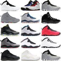 ingrosso aria retro x-Nike Air Jordan Retro Shoes Light 10 Blue 10s Uomini Retro Basket bianco Cemento Westbrook X Im ritorno Bobcats Chicago Cool Grigio polvere blu Sport Scarpe