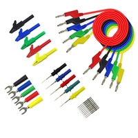 Wholesale test leads plugs for sale - Group buy HHO P1036B Mm Banana To Banana Plug Test Lead Kit For Multimeter Match Alligator Clip U Type And Puncture Test Porbe Kit