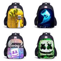 bolsas de escola paisley venda por atacado-10 Design Mochila Bonito 3D DJ Marshmello Mochilas para Crianças Meninos Meninas Casuais crianças Saco de Escola Capacete De Viagem Júnior Mochila