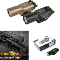 Wholesale tactical flashlight for picatinny rail resale online - Outdoor hunting tactics super bright flashlight X300U lumens High output Tactical flashlight Suitable for mm Picatinny Weaver Rail