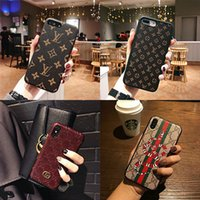 iphone leder gebrandmarkt großhandel-Designer phone cases für iphone xr xs max 6 7 8 plus case fashion brand case leder phone cases abdeckung
