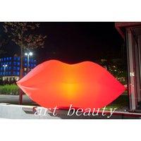 красная ночная стойка оптовых-Реплика нового стиля с надувной красной губой, стоящая на месте, со светодиодной подсветкой для мероприятия или ночного клуба