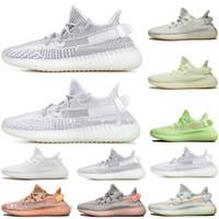 erkek spor ayakkabı toptan satış-Erkek Kanye West Kil V2 Statik Yansıtıcı GID Karanlıkta Glow Erkek Koşu Ayakkabıları Hyperspace Gerçek Formu Kadın Erkek Spor Tasarımcısı Sneakers