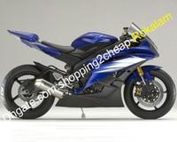 personalizando yzf r6 al por mayor-Carenado personalizado para Yamaha YZF600 R6 YZF-R6 06 07 YZF 600 R6 Azul Negro Carrocería Parts Carenado (moldeo por inyección)