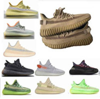 Wholesale clay yellow resale online - 2020 v2 shoes Sulfur abez Earth linen Cinder tail light flax cloud static breds oreos triple black reflective running shoes