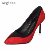 Wholesale ladies navy shoes size for sale - Dress Shoes Size New Women Sexy Pumps Thin High Heels Party Woman Pointed Toes Spring Formal Ladies Mix Colours Footwear
