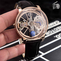 montres en cuir véritable achat en gros de-mode mouvement luxe montre montres à quartz homme concepteur mens bracelet en cuir véritable montres bracelet bleu noir orologio di lusso
