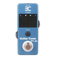 Wholesale guitar effects micro resale online - NAOMI ENO EX Micro PT LED Stage Mini Guitar Pedal Tuner Compact EffectsTrue Bypass PT