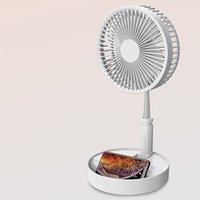 floor air achat en gros de-Portable Table pliante Fan multi-fonctions de bureau USB de charge Ventilateur PLANCHERS Personal Air Cooler Pour la maison / Cuisine / Voyage