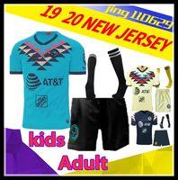 camisetas de fútbol americano para niños al por mayor-Kit para adultos para niños American 2019 conjunto de fútbol LIGA MX Club de US 19 20 México O.PERALTA hogar lejos de Rugby camisa del jersey