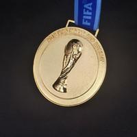 mundo de los fanáticos del fútbol al por mayor-2018 Russian WORLD CUP, medalla de oro de fútbol 2018 Francia Ganador del premio Aficionados al fútbol Regalo de recuerdo