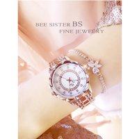 enlace reloj de cuarzo al por mayor-Nuevas señoras calientes importaron reloj de movimiento de cuarzo reloj vinculado de alta gama personalizado diamante completo femenino