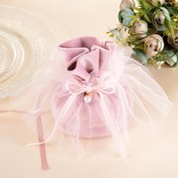 Wholesale wedding favor round candy box for sale - Group buy Wedding favor box wedding supplies packaging Bride dress favor boxes wedding favors boxes candy boxes