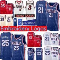 c5d7680ebfe9 21 joel embiid Jersey Philadelphia New 76ers 25 Ben Simmons 20 Markelle  Fultz 17 JJ Redick Retro Mesh 3 Allen Iverson Basketball Jerseys